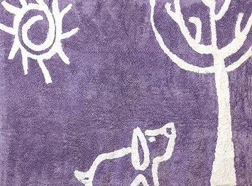 aratextil tapis en en 100 coton lavable en machine collection verano verano lila b b s. Black Bedroom Furniture Sets. Home Design Ideas