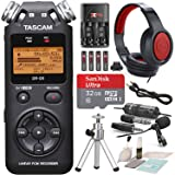 Tascam DR-05 (Version 2) Portable Handheld Digital Audio Recorder (Black) with Platnium accessory bundle (Tamaño: Platinum)
