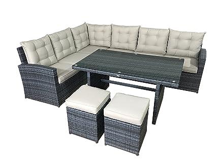 Muebles de jardin La Palma en gris