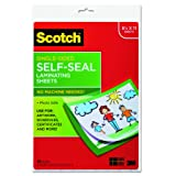 Scotch Single-Sided Laminating Sheets, 9 x 12-Inches, Letter Size (LS854SS-10) (Color: Clear, Tamaño: 9 x 12 in)
