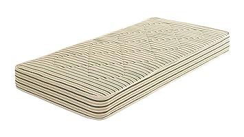 Comfy Beds Super King Farnham Crib 5 Mattress, 6 ft, Cream Stripe