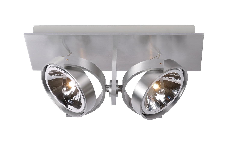 Lucide Spectrum Spot 2x QR111 /50 W inklusive, aluminium 10981/22/12
