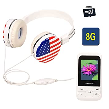 MAJESTIC ON EAR+LETTORE MP4 LCD 1.8 MICROSD 8GB RADIO