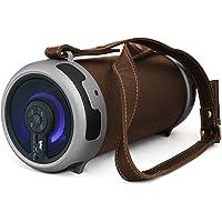 Tyler Portable Wireless Bluetooth Stereo Cylinder Speaker (Brown)