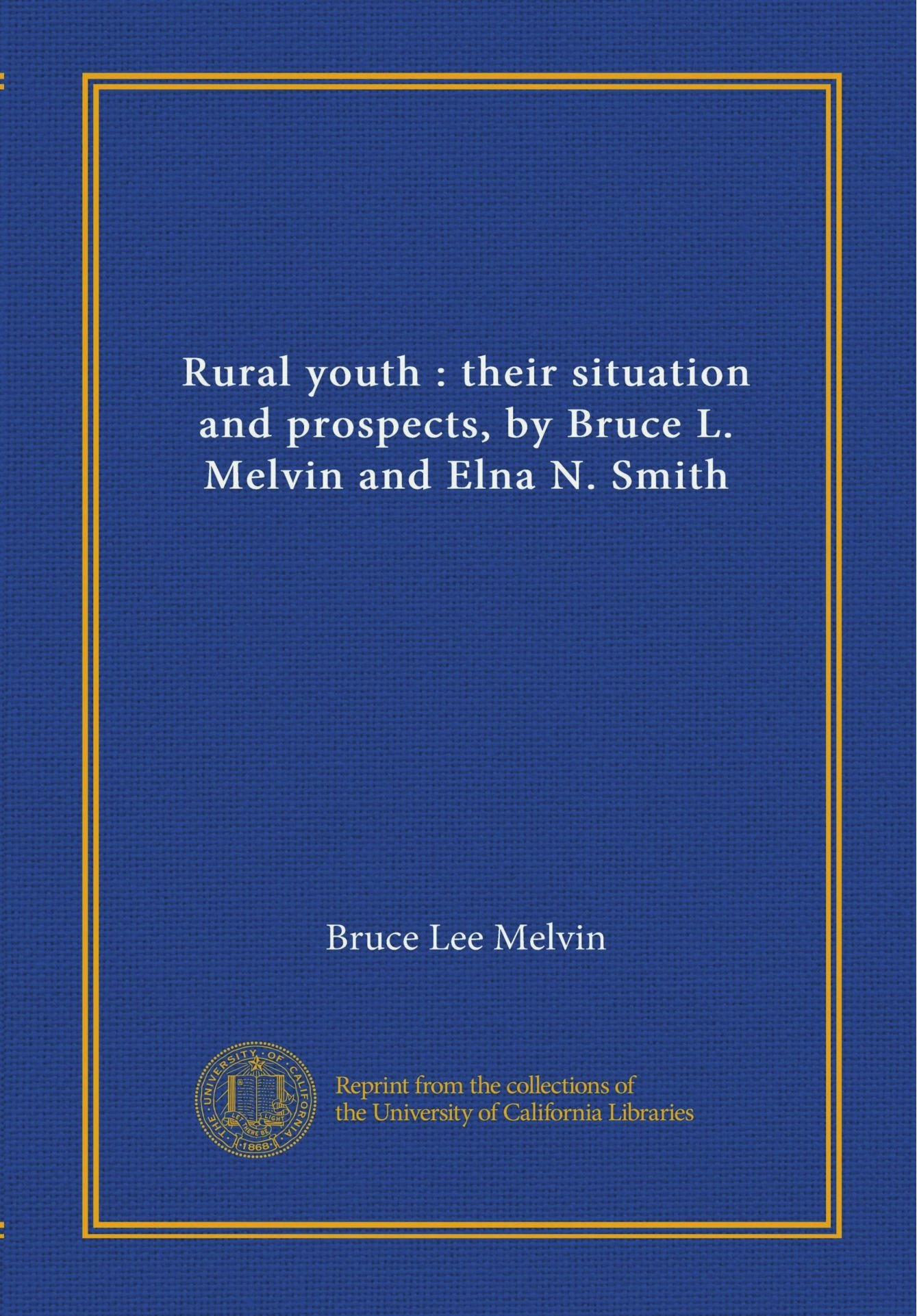 Rural youth : their situation and prospects