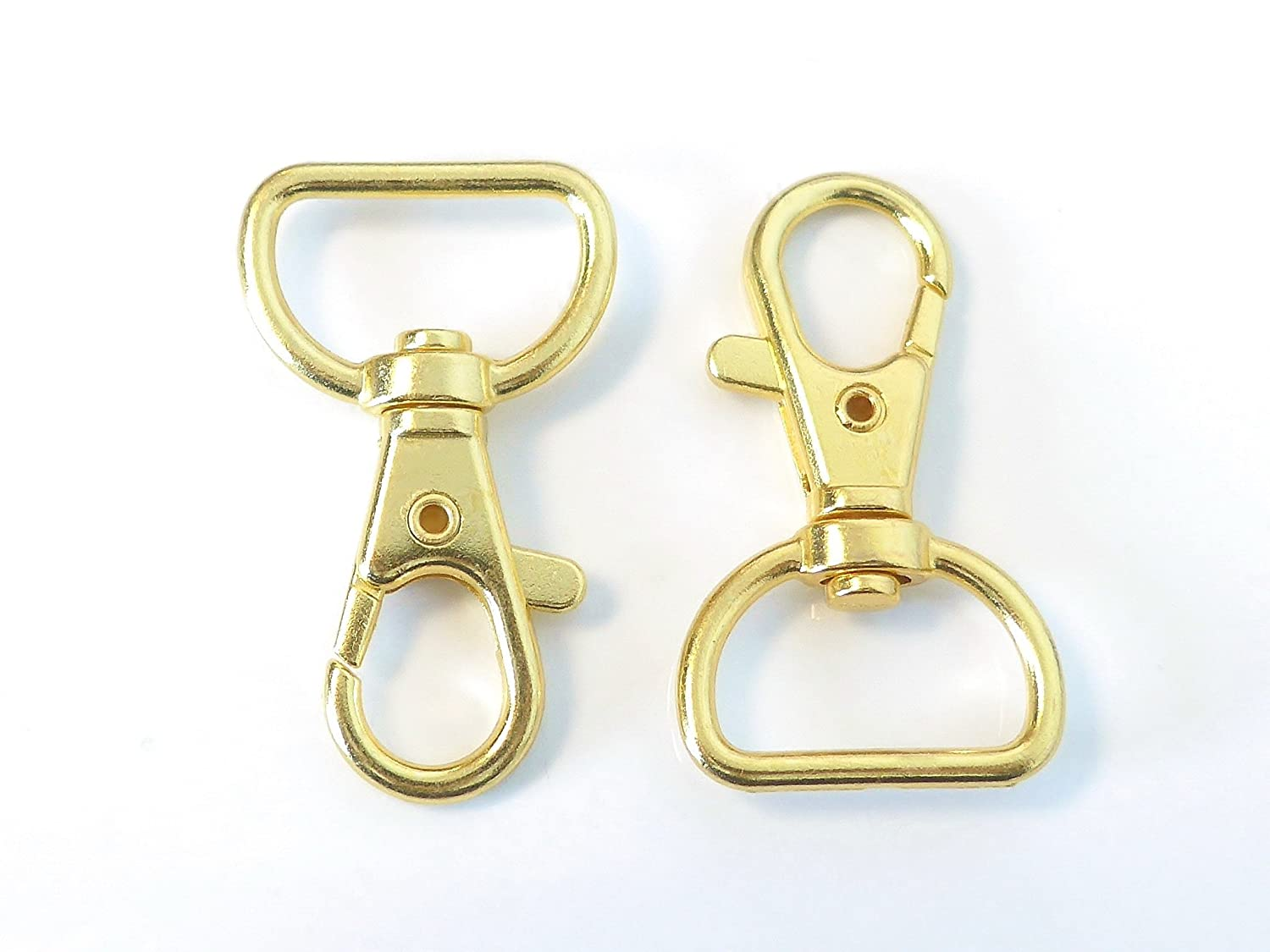"Gold Plated Swivel Clasps Lanyard Snap Hook Lobster Claw Clasp Jewelry Findings 1 5/8"" x 1"" Pack of 50"