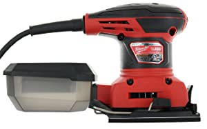 Milwaukee 6033-21 3 Amp 1/4 Sheet Orbital 14,000 OBM Compact Palm Sander with Dust Canister (2 Sheets of Sandpaper Included) (Tamaño: Pack of 1)
