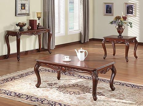 Acme 10240 Birmingham Coffee Table, Cherry Finish