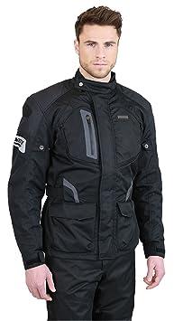 NERVE 1511151704_04 Spark Blouson Moto Touring Textile, Noir, Taille : L