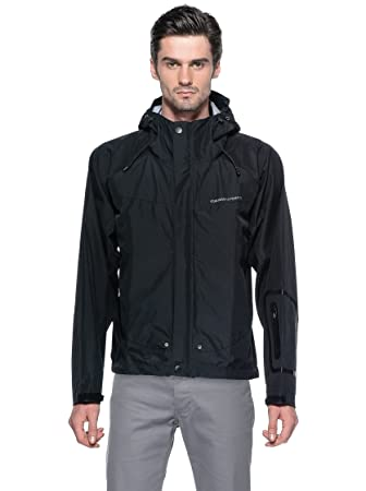 Tucano urbano 558N6 gUSCIO rAIN jacket-fully waterproof et respirant, three jacket.-layer-noir-taille xL