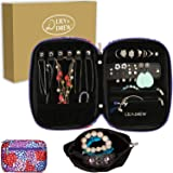 Lily & Drew Travel Jewelry Storage Carrying Case Jewelry Organizer with Removable Pouch, in Gift Box (V1B Flower) (Color: V1b Flower, Tamaño: Jewelry Only)