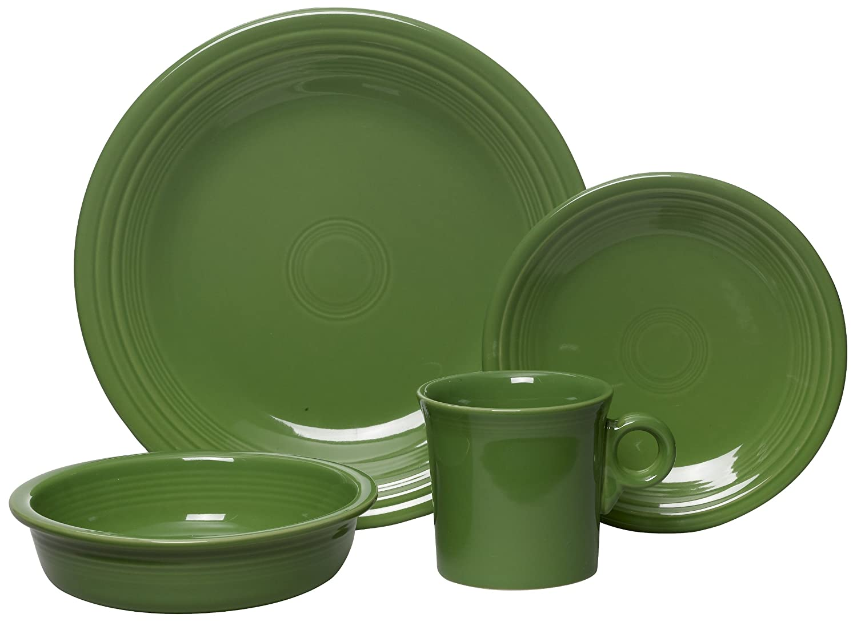 4-Piece Place Setting Dinnerware China Dish Set Dishwasher