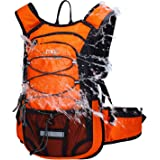 Mubasel Gear Insulated Hydration Backpack 2L BPA Free Bladder - Keeps Liquid Cool up to 5 Hours – Waterproof Pack Running, Hiking, Cycling, Camping (Orange)