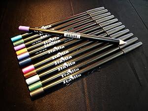 Color Eyeliner Pencils Red & Blue