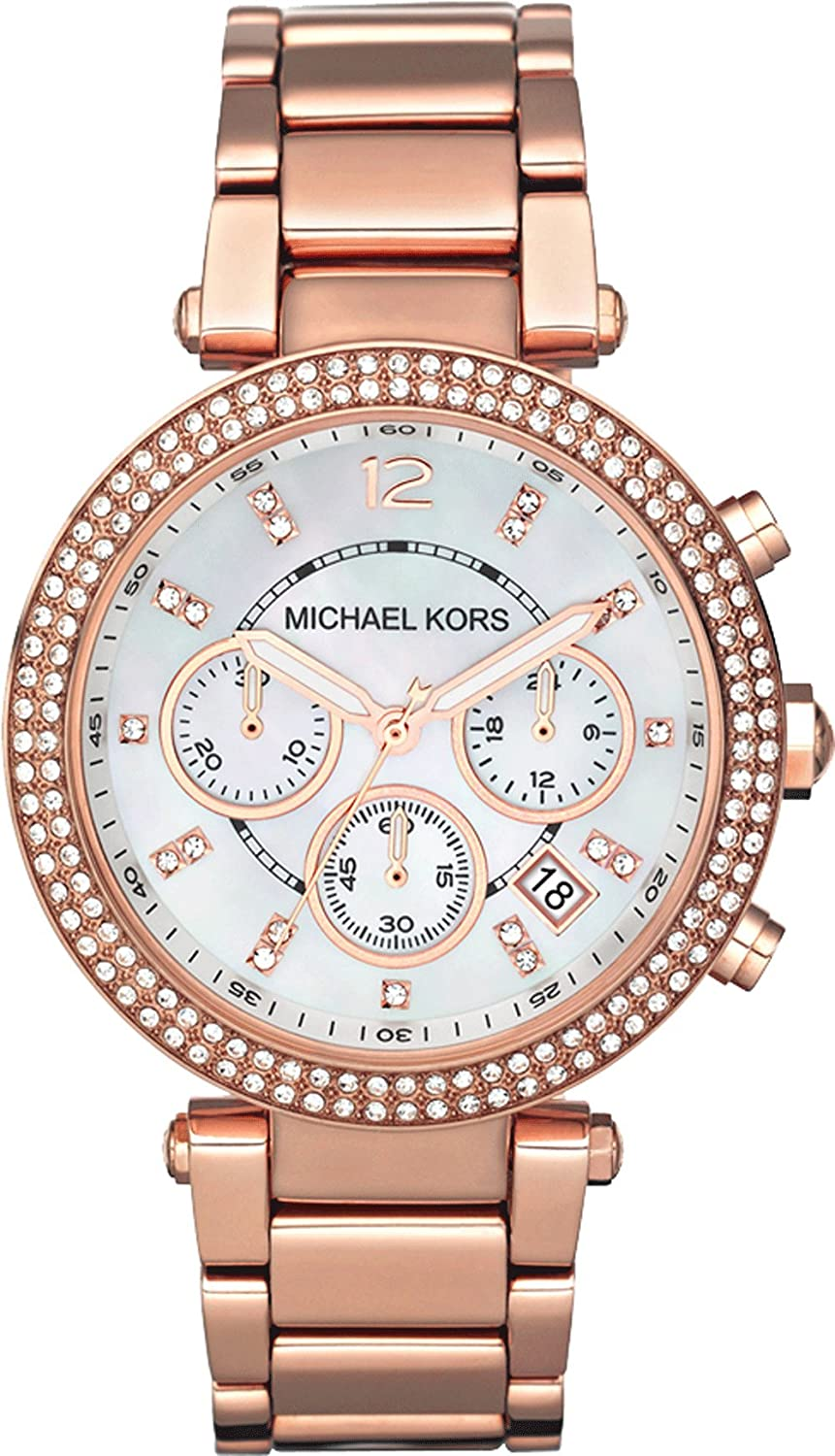 michael kors damen armbanduhr chronograph quarz edelstahl super sch ne uhr meiner meinung nach. Black Bedroom Furniture Sets. Home Design Ideas