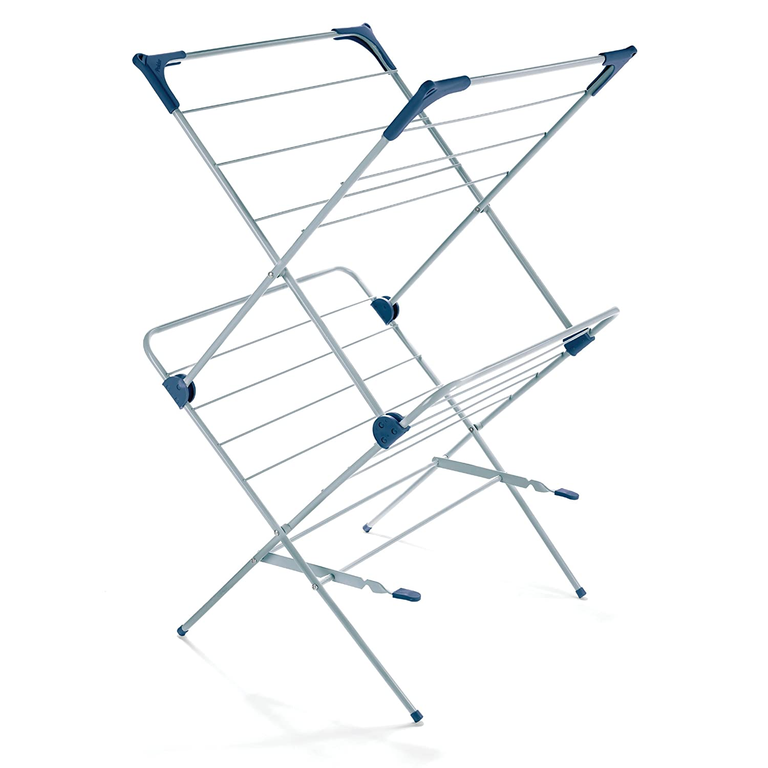 Polder Inc Polder Two-Tier Free Standing Clothes Drying Rack with Mesh Garment Dryer