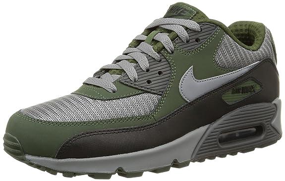 023b746f1305 Nike Air Max 90 Fashion Black Silver Blue Mens Running Trainers Shoes
