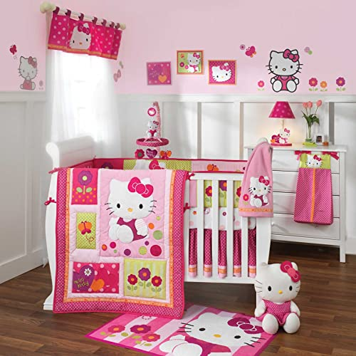 Hello Kitty Garden 6 Piece Baby Crib Bedding Set with Bumper by Lambs & Ivy