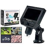 YaeCCC Portable Digital Microscope 3.6MP 600x Sensor Zoom LCD kit 1080P/720P/VGA Stereo Camera Video Microscope QC/Industrial/Collection Inspection Multi Use Smart Microscope
