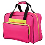 Janome Hot Pink Universal Sewing Machine Tote, Canvas (Color: Fuschia)