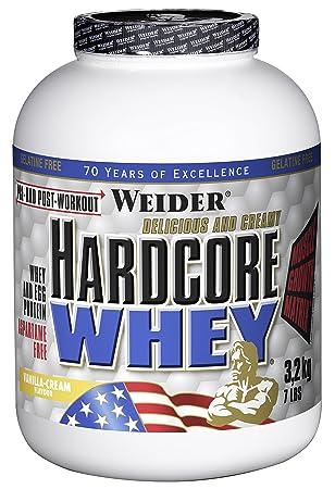 Weider Hardcore Whey, Vanille, 1er Pack, (1x 3200g)
