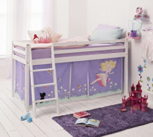 Cabin Bed with Annabel Tent in White with Tent 578WG ANNABEL       Customer review and more description