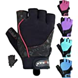 EMRAH Gym Weight Lifting Gloves Women Workout Fitness Ladies Bodybuilding Crossfit Breathable Powerlifting Wrist Support Strength Training Exercise (Black, M (Fits 6.88-7.36 Inches)) (Color: Black, Tamaño: M (Fits 6.88 - 7.36 Inches))