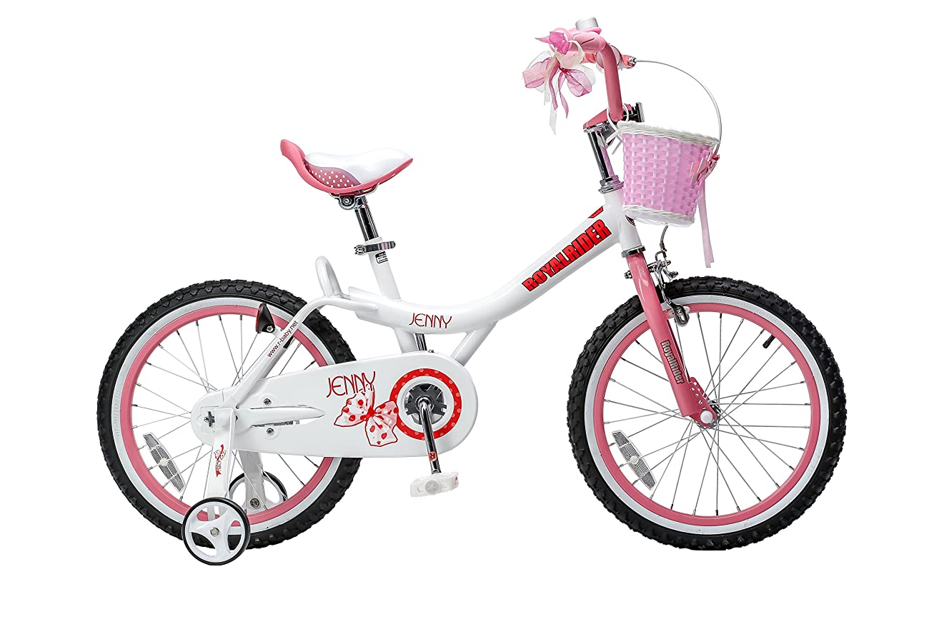 Royalbaby Jenny Princess Pink Girl's Bike with Training Wheels and Basket, Perfect Gift for Kids, 18 inch wheels 0