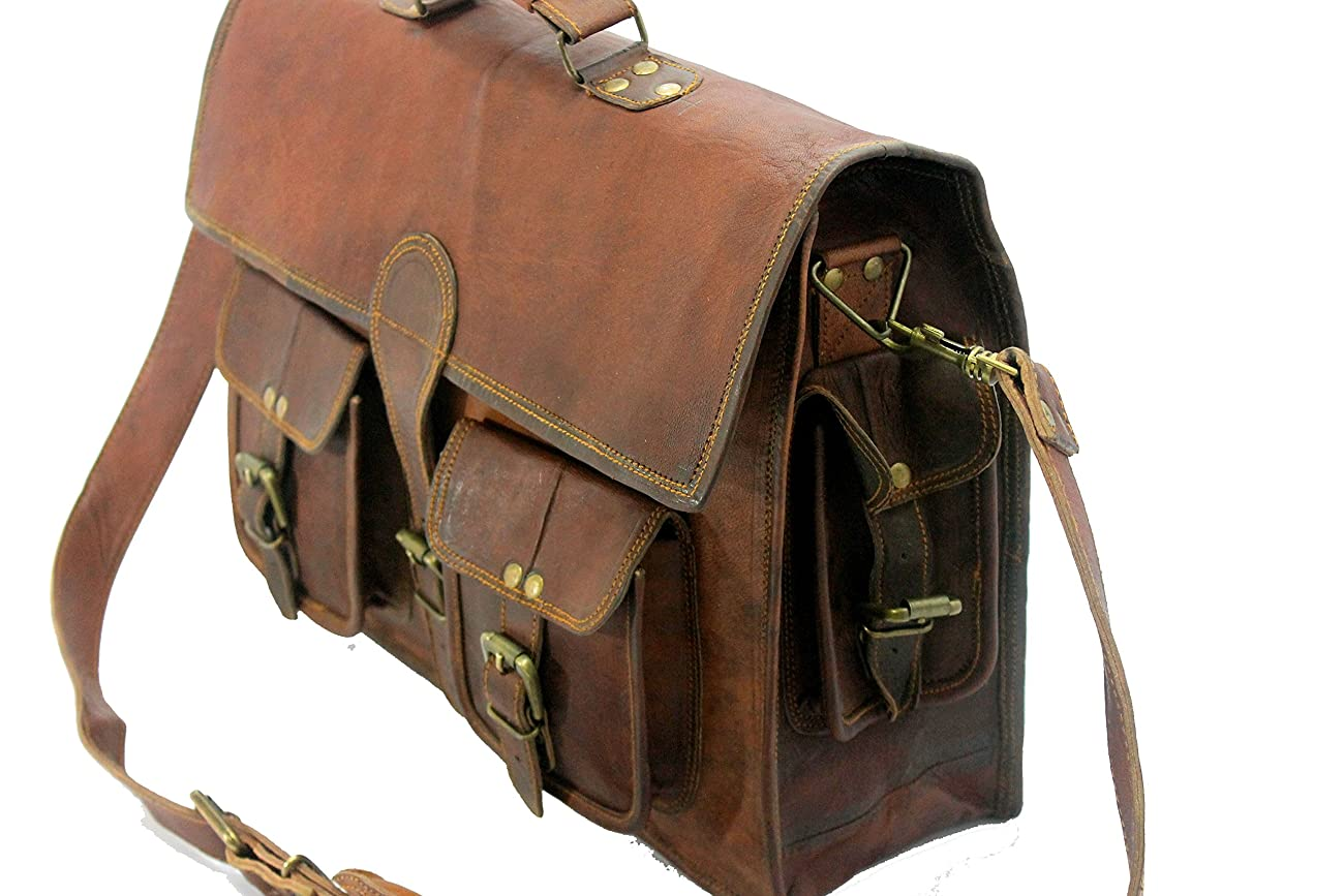 Handmade_ world leather messenger bags for men women mens briefcase laptop bag best computer shoulder satchel bag 2