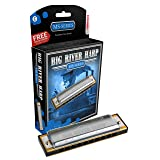 Hohner Big River Harmonica, Key of C (Color: Chrome, Tamaño: 10)