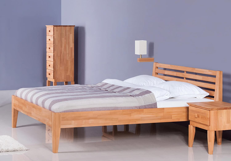 Stilbetten Bett Holzbetten Dahn mit Bettkasten Buche Natur (geölt) 180×200 cm online bestellen