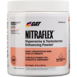 GAT Clinically Tested Nitraflex Testosterone Pre Workout, 300 Gram