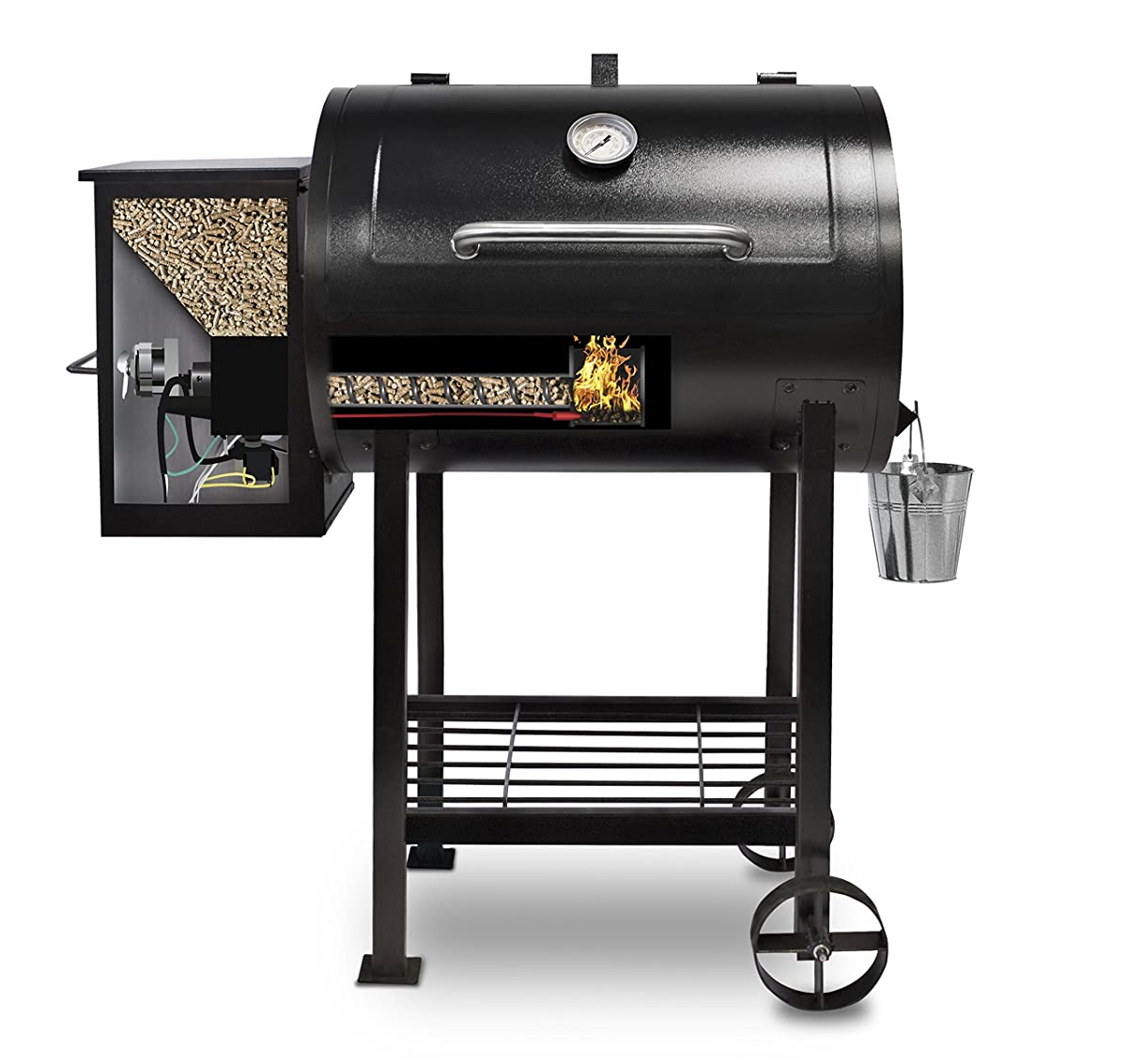 Pit Boss 71700FB Pellet Grill with Flame Broiler, 700 sq. in.