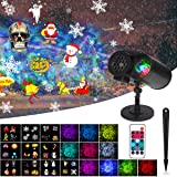 Ocean Wave Christmas Projector Lights, Dr. Prepare Remote Control 2-in-1 Ripple Light with 10 Slides Patterns, Indoor Outdoor Holiday Decorations IPX65 Waterproof for Party, Christmas, Halloween (Color: Ocean wave projector)
