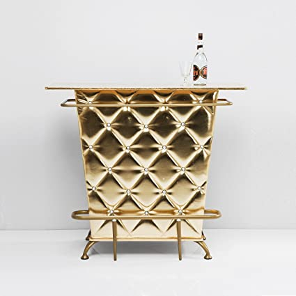 "HOUSE BAR TABLE COUNTER ""CELEBRITY GOLD"" minibar design cocktailbar golden from XTRADEFACTORY"