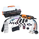 WEN 23190 1.3-Amp Variable Speed Steady-Grip Rotary Tool with 190-Piece Accessory Kit, Flex Shaft, and Carrying Case