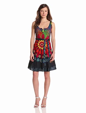 Desigual Women's Logan Dresses, Verde Mantel, X-Large