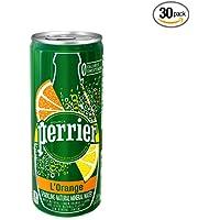 30-Pack Perrier Sparkling 8.45 Ounce Natural Mineral Water (Lemon Orange)