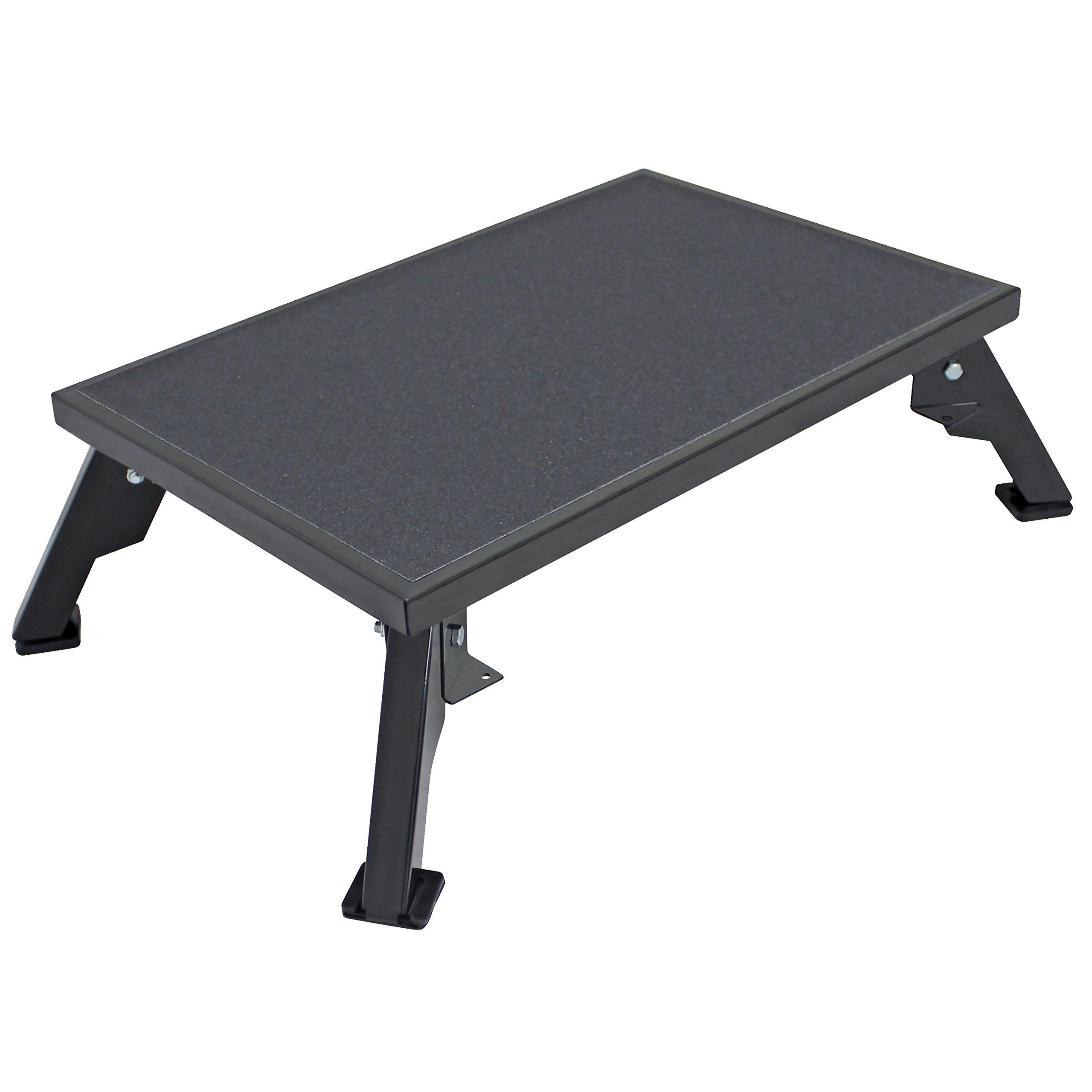 Rv Platform Step Folding Adjustable Extra Large Non Skid