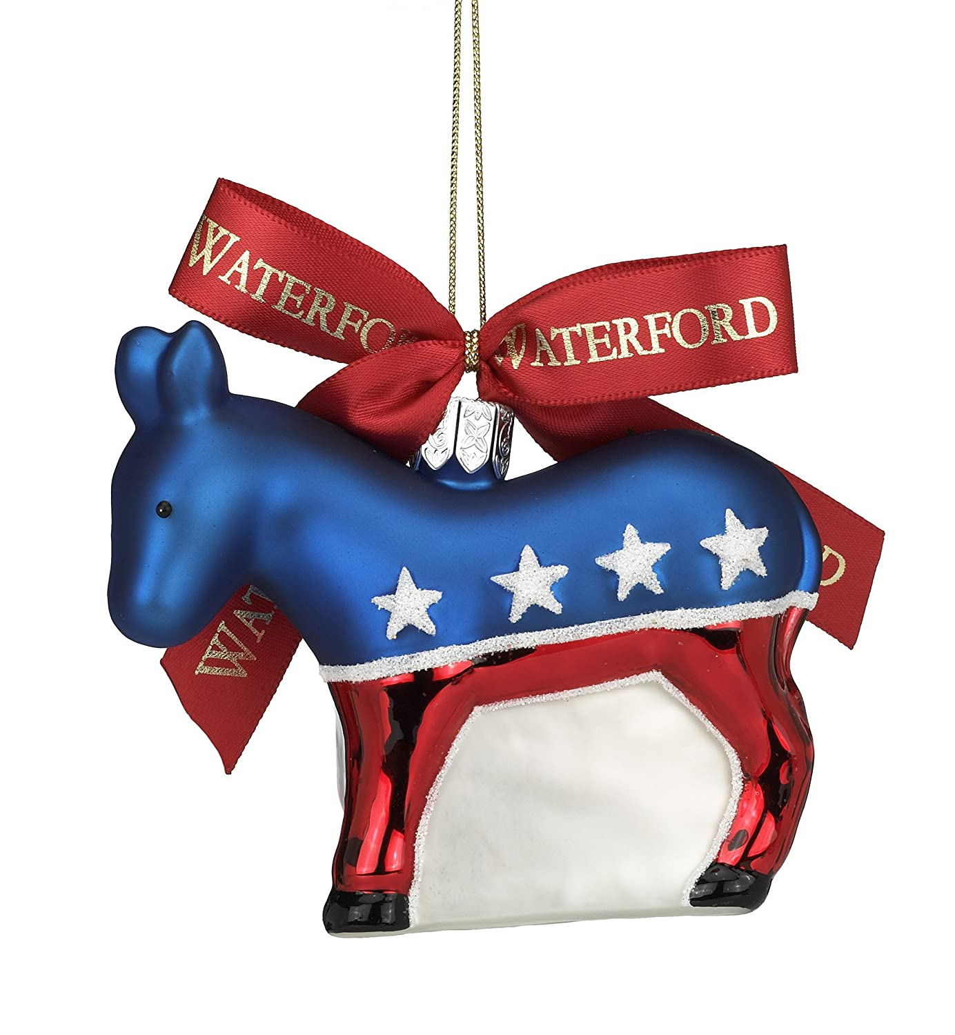 Waterford Holiday Heirlooms Democratic Donkey, Christmas Ornament