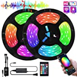 LED Strip Lights, WiFi 10m/32.8FT SMD 5050 Color Changing Kit Work with Alexa Google Assistant Strip Lights Wireless Phone APP Controlled 300 LEDs Rope Light Waterproof Flexible Tape Lights (Color: Rgb (Red, Green, Blue), Tamaño: 32.5ft)