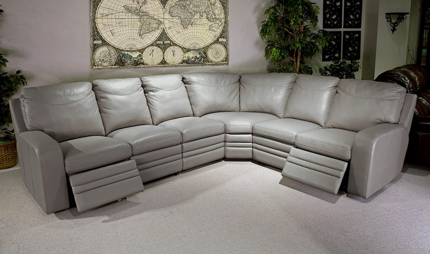 Parker Living - Steinbeck Power Sectional 4 pcs. ( Includes Left Loveseat Power - Armless Chair - Wedge & Right Loveseat