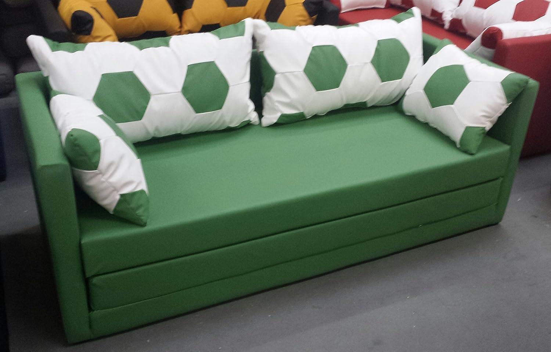 Schlafsofa 2-sitzer XL weiss grün online kaufen