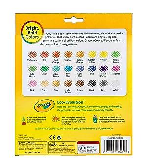Crayola Colored Pencils, Assorted Colors, School Supplies, 24 Count (Color: Multi, Tamaño: 24 count)