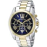 Michael Kors Men's Bradshaw Two-Tone Watch MK5976 (Color: Silver/Gold/Navy, Tamaño: one size)