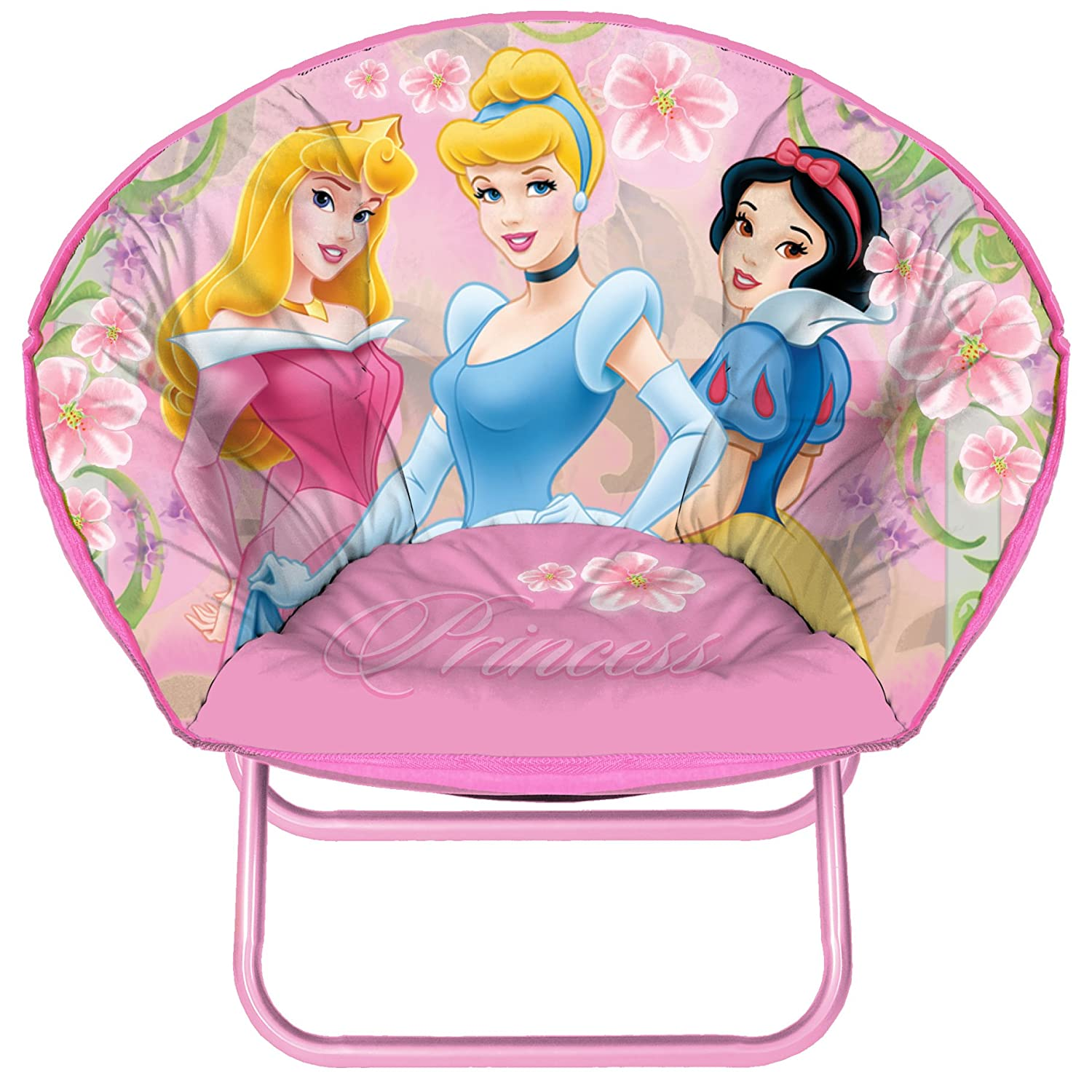 Kids Folding Disney Chair Round Saucer Play Princess Seat