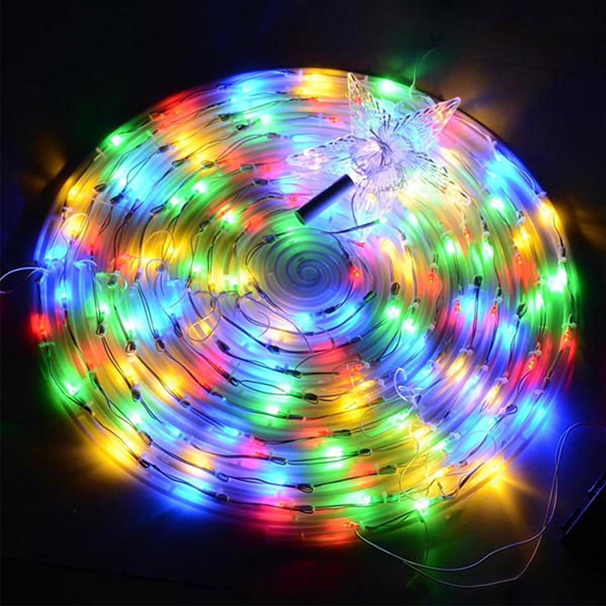Koval Inc. 5FT / 6FT Indoor Outdoor Clear LED Lighted Spiral Christmas Tree (6FT, Multi Color)