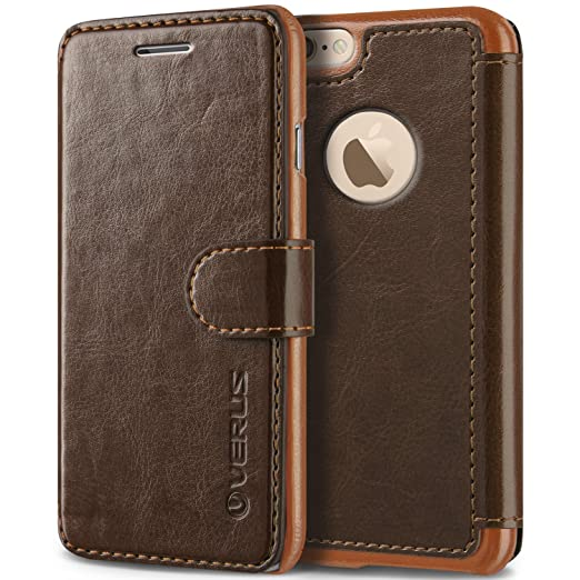 "iPhone 6S Case, Verus [Layered Dandy][Coffee Brown] - [Card Slot][Flip][Slim Fit][Wallet] - For Apple iPhone 6 and iPhone 6S 4.7"" Devices"