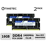 Timetec Hynix IC 32GB Kit (2x16GB) DDR4 2400MHz PC4-19200 Unbuffered Non-ECC 1.2V CL17 2Rx8 Dual Rank 260 Pin SODIMM Laptop Notebook Computer Memory RAM Module Upgrade (32GB Kit(2x16GB)) (Tamaño: 32GB Kit (2x16GB))