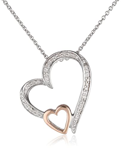 0K-Rose-Gold-and-Silver-Diamond-Double-Open-Heart-Pendant-Necklace-1-10-cttw-18-